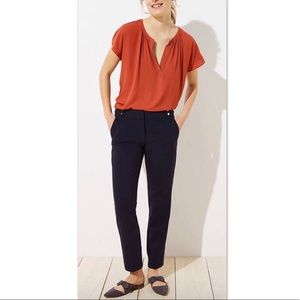 LOFT Marisa Fit Stud Tab Slim Pencil Pants